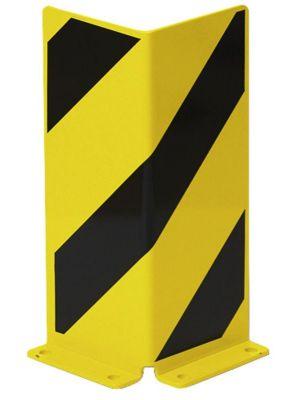 Anfahrschutz, H 400mm, Winkel, Stärke 5mm, Stahlblech, gelb/schwarz